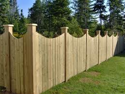 Scallop Top Fence