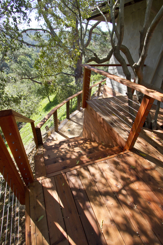 Redwood, Deck, Stainless Steel Rails, Cables, Deck Rails
