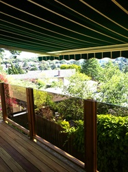 Glass deck Rails and Awning