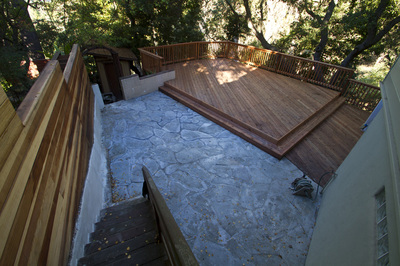 Deck and Flagstone