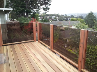 Deck with Glass Rails