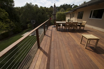 IPE Deck and Stainless Steel Rails