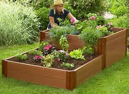 Above Ground Garden Boxes. Planter Box Bench